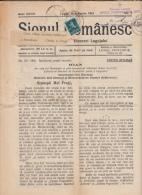 SIONUL ROMANESC NEWSPAPER, CHURCH NEWSPAPER, KING MICHAEL STAMPS, 1941, ROMANIA - Revues & Journaux