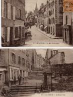 2 CPA  GRANVILLE  (50)   LA  HAUTE  VILLE -  LA  RUE  NOTRE - DAME - Granville