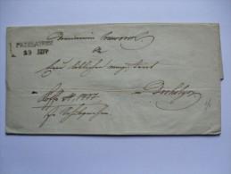 AUSTRIA POLAND 1844 WRAPPER WITH CLEAR PRZEWORSK AND DROHOBICZ UKRAINE MARKS - Österreich