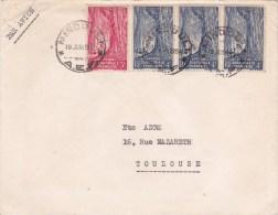 AEF - 1955 - ENVELOPPE Par AVION De MINDOULI (CONGO) Pour TOULOUSE - A.E.F. (1936-1958)