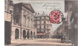 Carte Postale Ancienne De Chambéry - Le Théâtre Et La Rue D'Italie - Chambery