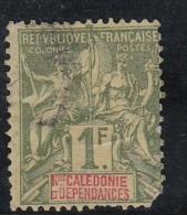 Colonies  Légende Nelle Caledonie 1f Olive   N°53 - Gebruikt