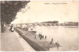 Dépt 45 - GIEN - Perspective Du Pont (animée) - Gien