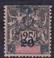 Colonies  Légende Nelle Caledonie  Surchargé Cinquantenaire N° 87 - Usados