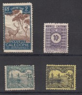 Nelle Caledonie  Timbre Taxe 4 Valeurs - Portomarken