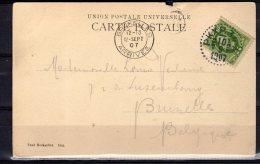 Post Card 1907 PKXP 34A = Stockholm-Nässjö  (zw171) - Schweden