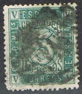 Sello Impresos 5 Cts. Isabel, Cifras 1867, Parrilla Numeral, Num 93a º - Usados