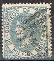 Sello 25 Mils Isabel, Cifras 1868, Parrilla Numeral 1 De MADRID, Num 97 º - 1872-73 Reino: Amadeo I