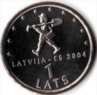 LATVIA 1 Lats 2004  Digger.UNC - Latvia
