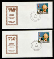 Tschad 1105 AB FDC  Auguste Piccard (1985) - Andere