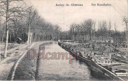AISNE (02) - Anizy Le Chateau - Der Kanalhafen - Cargaison De Bois Sur Péniches - Postkarkte Feldpost - Autres Communes