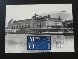 Carte Maximum Maximum Card Gare Du Palais D'Orsay 1986 - Eisenbahnen