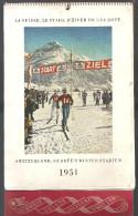 Suisse Le Stade D'hiver De L'Europe De 1951 Edité Par L'Office Centrale Suisse Du Tourisme à Zurich - Calendriers