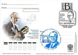 RUSSIA 2009 B86 190/1 Vladimir Zworykin Kozmich (1889-1962), Engineer, Scientist, Inventor - Stamped Stationery