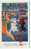 PUBLICITE BYRRH Par J. LEHMANN < CHAT CAT < CONCOURS D´AFFICHES 1906 < ART NOUVEAU < TRES BON ETAT < 2 SCANS - Illustrateurs & Photographes