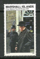 Démission De Sir Winston Churchill. Juillet 1945.  Un T-p Neuf ** ILES MARSHALL. Yvert 586 - Marshall
