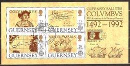 GUERN-BF 17 Europa 1992  Oblitéré. 1er Jour   Surchargé :Stamp Expo 92 - Guernesey