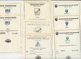 Papeteries Papermaking Finland Finlande Etiketten Labels Pulp & Papermills  ( 30 Labels) - Autres