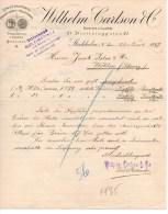 WILHELM CARLSON-ENGROS-LAGER AF MODEVAROR-STOCKHOLM-23-11 -1897 - Fatture & Documenti Commerciali