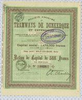 Sa Des Tramways De Dunkerque Et Extensions à Malo Les Bains - Chemin De Fer & Tramway