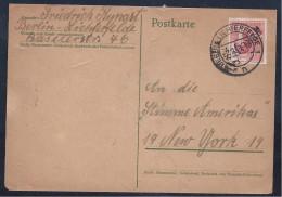 Berlin1949:Michel11 On Card EF To Voice Of America   Catalgue Value210Euros($288) - [5] Berlin