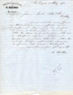 FABRIQUE DE TRESSE DE CRIN DE C. HALTER A´ MELLINGEN EN SUISSE-1-5-1870 - Schweiz