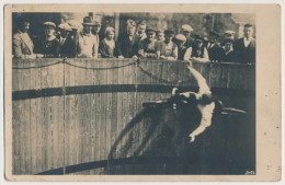 PostCard - Original Foto - Ca. 1910 - Radfahrer Durch Fliehkraft In Der Wagerechten - Ansehen!! Fotograf: Magdeburg - Cyclisme