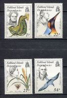 1985 South Georgia (Falkland Islands Dep.) - Nature Scientists 4v., Plants, Birds, Michel 138/141  MNH - Natura