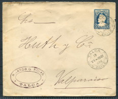 1901 Chile Talca - Valparaiso  Ricardo G Rojas Columbus Stationery Ganzsache - Chile