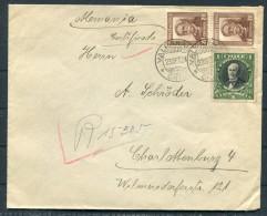1931 Chile Valparaiso Certificado Brief - Charlottenburg Berlin Germany - Chile