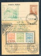 1941 Argentina EXPO FILA E.F.I.R. Stamp Exhibition Rosario Exposicion Postcard - Storia Postale