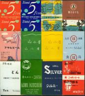 12 Alte Zündholzschachtel - Papierskillets Aus Japan #2 - Zündholzschachteln