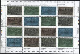 CANADA 1992 SOTT 1451ai MNH (DULL) COMPLETE SHEET VALUE CDA $48. - Ganze Bögen