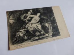 MUSEE DE QUIMPER JEAN VERTOLIE SUZANNE ET LES VIEILLARDS    @ CPA VUE RECTO/VERSO AVEC BORDS - Quimper