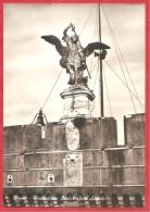 CARTOLINA VG ITALIA - ROMA - Castel Sant'Angelo - Particolare - 10 X 15 - ANNULLO ROMA 1960 - Sculture