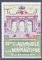 BELGIUM  AEROPHILATELIC  EXPO.   VIGNETTE  BRUXELLES  1913   * - Airmail