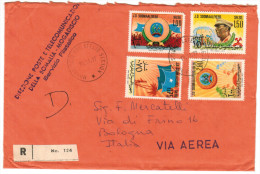 SOMALIA - 1977 - RIVOLUZIONE SOCIALISTA - FDC - RACCOMANDATA - Somalie (1960-...)