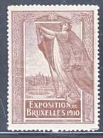 BELGIUM  EXPOSITION  BRUXELLE  1910 - Commemorative Labels