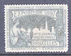 BELGIUM  EXPOSITION  BRUXELLE  1897  * - Commemorative Labels