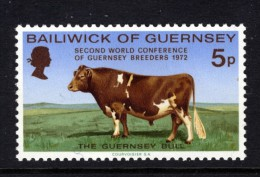 GUERNSEY - 1972 GUERNSEY BULL STAMP FINE MNH ** - Guernsey