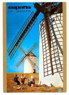 Spain - Windmills Of Campo De Criptana (Ciudad Real) Postcard - Molinos De Viento
