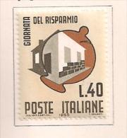 ITALIA 1965 GIORNATA DEL RISPARMIO SASS. 1008 MLH VF - 6. 1946-.. República