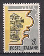 ITALIA 1966 TURISMO SASS. 1024 MLH VF - 6. 1946-.. República