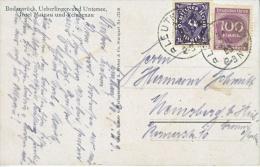 Germany  Inflation PICTURE POST CARD  1923  INSEL  MAINAU Und  REICHENAU - Germany