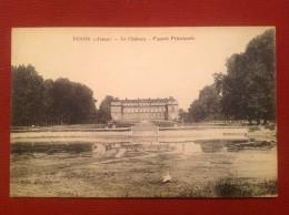 02 Aisne PINON Le Château Façade Principale Vue Inhabituelle - France