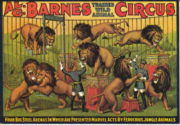 CPM CIRQUE CIRCUS BARNES LIONS KRUGER - Circo