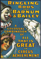 CPM CIRQUE CIRCUS OURS BLANC CLOWN  RINGLING BROS BARNUM BAILEY   KRUGER - Cirque