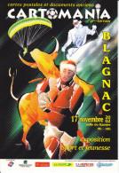 CPM SALON CARTOMANIA BLAGNAC 2002 EXPO SPORT ET JEUNESSE - Bourses & Salons De Collections