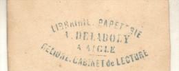LIBRAIRIE PAPETERIE A. DELADOLY A AIGLE - RELIURE CABINET DE LECTURE PHOTO TAMAÑO 10,6 X 6,3 CENTIMETROS - Photographs