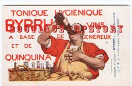 BYRRH Par V. LEYDET < BUVEUR De VIN < CONCOURS D´AFFICHES 1906 < PUBLICITE < ART NOUVEAU < TRES BON ETAT < 2 SCANS - Illustrateurs & Photographes